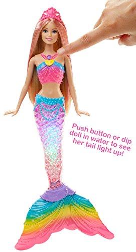 Image of Barbie Rainbow Light-Up Barbie Mermaid Doll