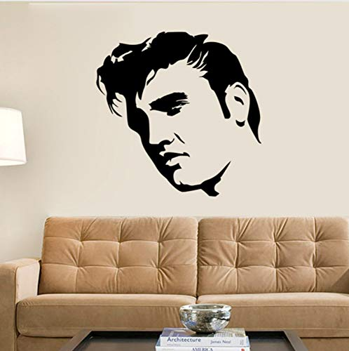 Price comparison product image Wall Sticker Creative Large Elvis Presley Wall Decals Bedroom Home Decor Black Stencil Wall Stickers Matt Vinyl Mural Art DIY Poster