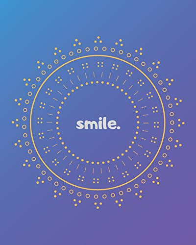 SMILE.: July 2019-December 2020 18-Month Weekly and Monthly Planner with Blue Gradient Background and Yellow Design