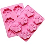 fendii Lovely Sweet multifunción huella de perro molde de silicona Ice Cube Cake Soap Molde Cocina