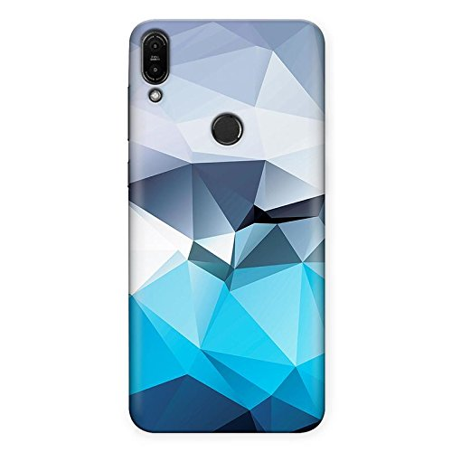 Crazyink Asus Zenfone Max Pro M1 TPU Soft Silicone UV Printed Designer Back Cover Case | Calm Color of Polygon Art | Digital Art | Quikry | Pattern | Scratch Proof | Lifetime Printing Guarantee | Shock Proof | Waterproof | Durable | Slim Light Weight.