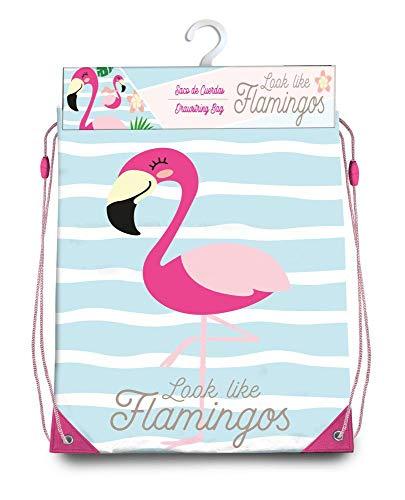 Kids Bolsa Cordones Gym Bag 40x33cm Flamingo Bolsa