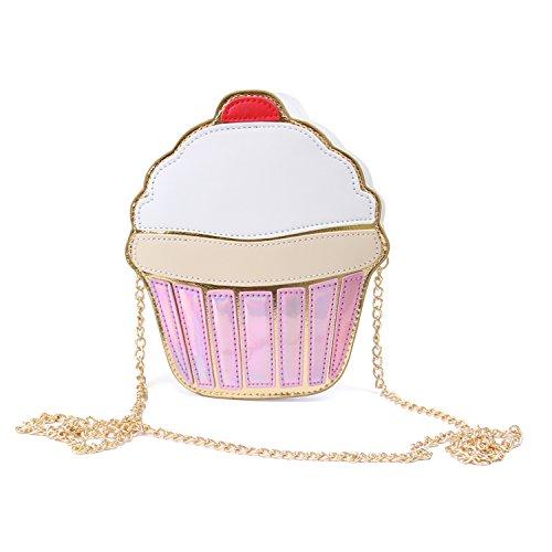 Clutch Bag Cupcake Blue Banana (Bianco/Rosa) - Taglia Unica