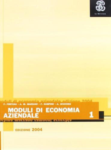 Moduli di economia aziendale. Per gli Ist. professionali: 1