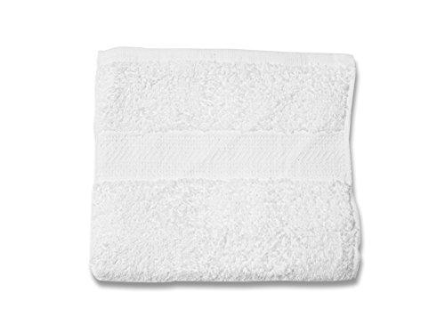 Soleil d'Ocre 431040 Serviette de Toilette Coton Blanc 50x90 cm