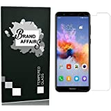 BA Brand Affairs Present Premium Quality [9h Hardness][HD Clear] Tempered Glass Screen Protector For Huwei Honor 7X (Transparent)