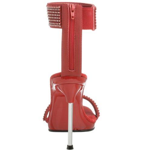 Pleaser - Chic 40, Sandali con tacco  da donna Rosso(Rot)