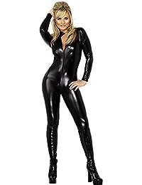 Smiffy's - Disfraz de cuero y látigo para mujer, talla XS (28629XS)