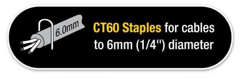 Tacwise 0357 Boîte de 5000 Agrafes pour câble CT-60/14 mm Blanc