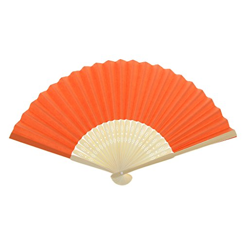 Einseitiges DIY Fertigkeit Phantasie Tanzparty Papierhand Fan- Tief Grün - Orange