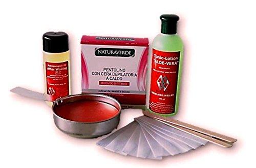 Wax Enthaarung Heim Set für die Haarentfernung Gesicht Intim Warmwachs Pfännchen für Herdplatte Waxingset