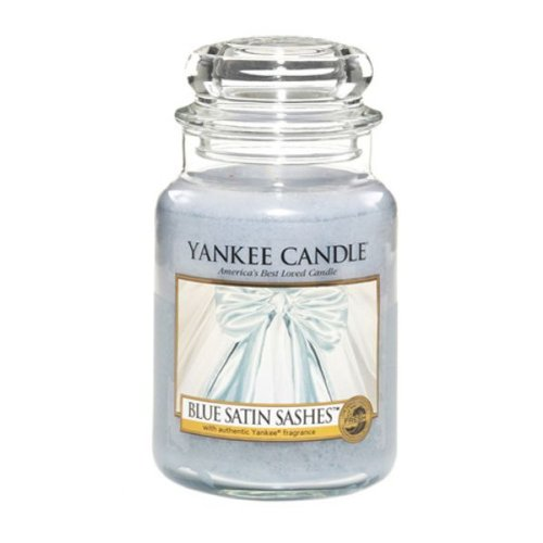 Yankee Candle Duftkerze Blue Satin Sashes Housewarmer 625 Gramm