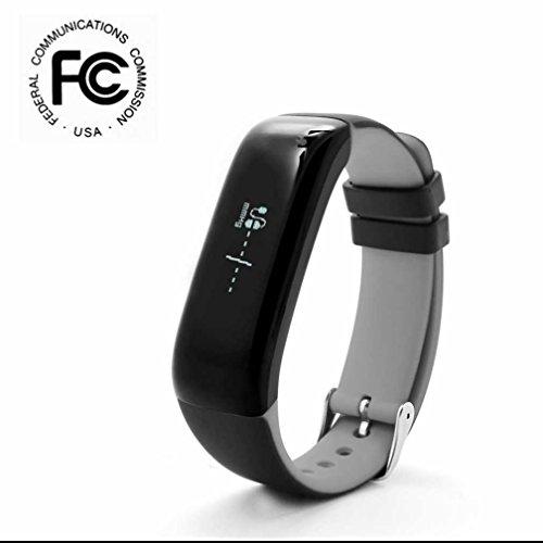 Bluetooth Smart Armband Blutdruck Monitor,Fitness Sportuhr mit Herzfrequenzmesser Schlafüberwachung Unterstützung Fern Fotografieren Alarm Clock Tägliches Aktivitätsziel