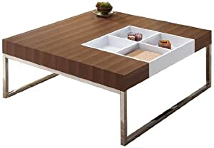 Enitial Lab Chester Coffee Table with Display Tray, Walnut
