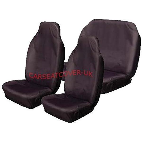 HEAVY DUTY WATERPROOF PROTECTOR BLACK CAR SEAT COVERS 1+1 12+ FORD KUGA