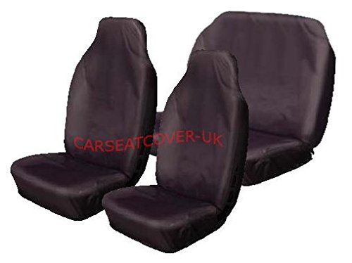 Carseatcover-UK BLKWPFS625 Car Seat Covers, Heavy Duty, Waterproof, Full Set, Black