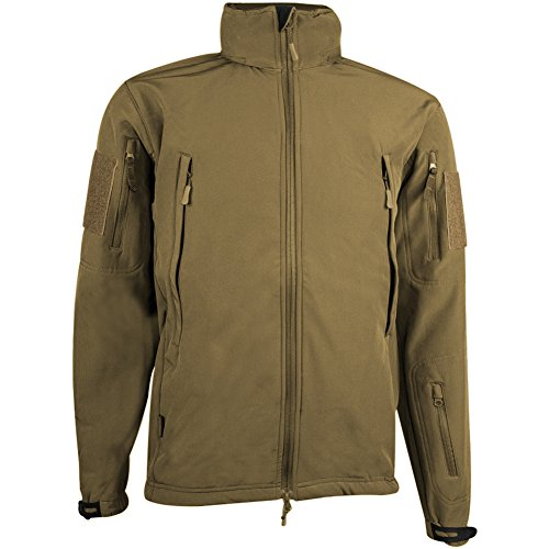 Highlander Hommes Tactical Soft Shell Veste Olive Tan