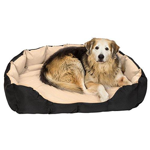 TecTake® XXL Hundebett Hundekissen Hundesofa Schlafbett schwarz/beige - 2