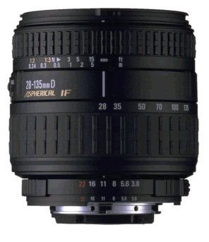 Sigma 28-135/3,8-5,6 aspherical IF Macro Objektiv für Nikon D