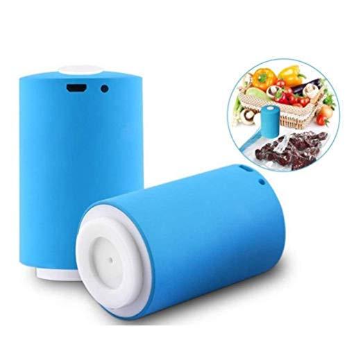 GSTH Multifunktionale automatische Mini-Kompressionsvakuumpumpe , Aufbewahrungstasche-Entlüftungsvorrichtung, Für die Lagerung von Lebensmitteln platzsparend mit Vacuum 5 Sealer Bags -