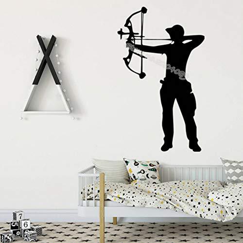 Armbrust Bogenschütze Bogenschießen Wandaufkleber Bogenschießen Boy Home Decor Für Kinder Baby Room selbstklebende Vinyl Kunst Decals tapete 42x68cm