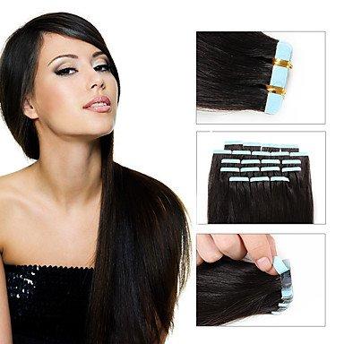 pumaple 8Ein Tape in Remy Echthaar Extensions Haarverlängerung Großhandel von SKIN Weft Malaysisches gerade Tape Hair Extensions Double Drawn 20/viel Haut Schuss, 40,6cm