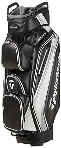 TaylorMade 2017 Monaco Cart Bag Mens Golf Trolley Bag 14-Way Divider Black/White/Silver