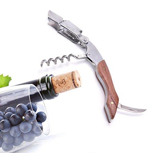 Ducomi® Sommelier - Korkenzieher Flaschenöffner für Wein aus Edelstahl (Garantie A Leben), Korkenzieher Kellnermesser Position Benutzerfreundliche Profis für Wein und Bier (Art Deco)