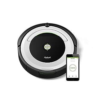 iRobot Roomba 691 Aspirateur Robot, système de nettoyage puissant avec Dirt Detect, aspire tapis, moquettes et sols durs, connexion Wi-Fi, argent