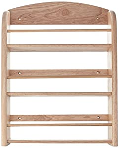 """Scimitar"" 18 Jar Wall Spice Rack in Hevea with Fixings (Jars Not Included) from t&g woodware"