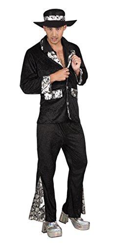 en Hochwertiges Kostüm Pimp, Schwarz, Größe XL (Pimp Halloween-kostüme Männer)