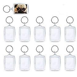3,5,10,15,20,50 oder 100 Stück Acryl Foto Schlüsselanhänger Spitzenqualität