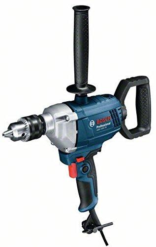 Bosch Professional 06011B0000 Professional Bohrmaschine GBM 1600 RE mit 360° drehbarer D-Griff, Zusatzhandgriff, 850 Watt, Bohr-Ø: Holz 40 mm, Stahl 16 mm, Karton, W, 230 V, Schwarz, Blau