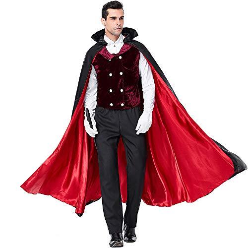 Herren Halloween Kostüm Erwachsene Unisex Karneval Fasching Vampir Earl Dracula Leistungskostüm