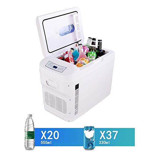 Vertikale Gefrierschrank Rack (Bingx Auto Kühlschrank Mini Kühlschrank vertikal, große Kapazität 28L tragbare elektrische Kühlschrank Doppelkernkühlung/Heizung, geeignet für LKW und Boote/Picknicks (Silent Umweltschutz))