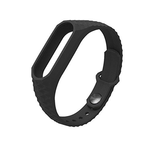 Pulsera Mi Band 2,Correa Mi Band 2 La Smart Band 2 de Xiaomi 3D de Moda Smart Watch Strap Correa para Miband2(Sin Rastreador de Actividad)(Negro)