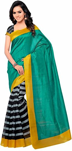 Saree (Macube Latest Saree Of 2017 Women's Clothing Saree For Women Latest Design Wear Sarees Collection Latest Saree With Designer Blouse Free Size Beautiful Bollywood Saree For Women Party Wear Offer Designer Sarees With Blouse Piece)