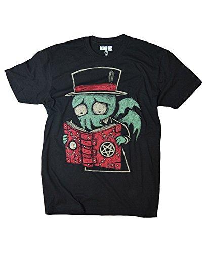 Akumu Ink Herren Premium Tattoo T-Shirt - Necromancer (Schwarz) (S-L) (L) (Cap Deluxe Skull)