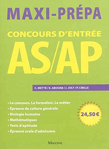 Concours d'entrée AS/AP