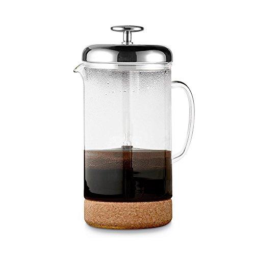 Barista Kaffeebereiter (Siebstempelkanne, Glas)