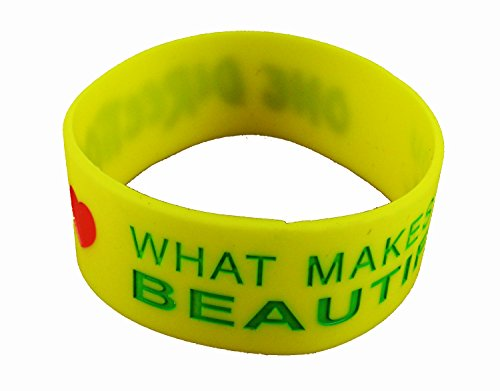 ESHOPPEE One direction silicone wrist band yellow color