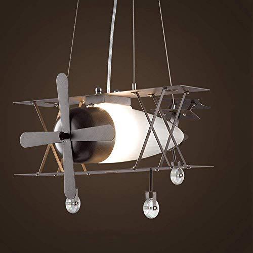 GCCI Amerikanischen Retro Kronleuchter Jagd Suspension Industrie Flugzeuge Kreative Persönlichkeit Haus Kinder Bekleidungsgeschäft Restaurant in Mattglas Eisen E27 Glanz Dome Licht