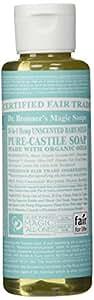 Dr. Bronner's Fair Trade & Organic Castile Liquid Soap -Baby Unscented 4 Oz