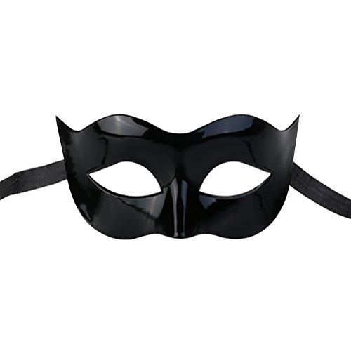LUOEM Männer Masquerade Maske Ball Half Face Augenmaske für venezianischen Halloween Kostüm Party Cool Maske (schwarz)