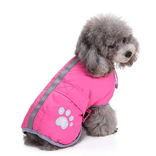 Fenverk_Haustier Weste Atmungsaktiv Baumwolle äRmellos T-Shirt Hund Katze Kleider Kalt Wetter MäNtel Dachgeschoss Reversibel Winter Künstliches Fell Jacke Wiederherstellung ()