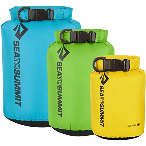 Sea to Summit Lightweight set of 3 Drybag One Size Blue Green Red -