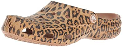 crocs Freesail Graphic Clog Women, Damen Clogs, Mehrfarbig (Leopard), 34-35 EU
