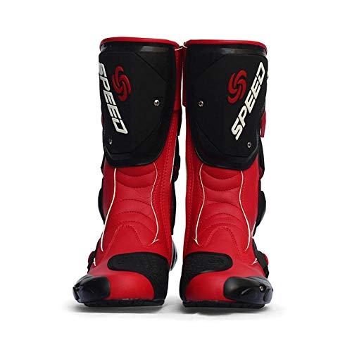 Stivali da Moto, Anti-Skid Resistente all'Usura Moto Racing Stivali da Cross Motocross Fuoristrada Impermeabile Anti-collisione Equitazione Proctecto