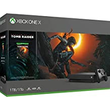 Microsoft Xbox One X, schwarz - Shadow of the Tomb Raider Bundle