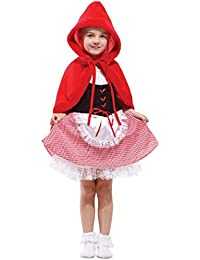 Forever Young Kids Girls Little Red Riding Hood Halloween Fancy Dress Costume